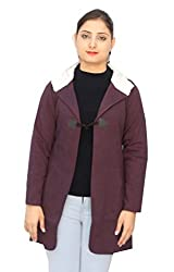 Romano Women's Purple Fashion Hooded Winter Coat