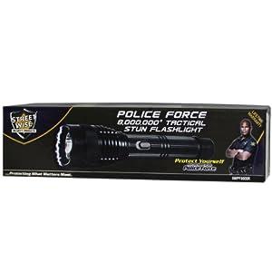 Police Force 8 MillionRechargeable Tactical Stun Gun Flashlight w  200 Lumen Bright... by StreetWise