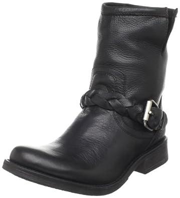 Steve Madden Women's Flaiir Ankle Boot,Black Leather,6 M US