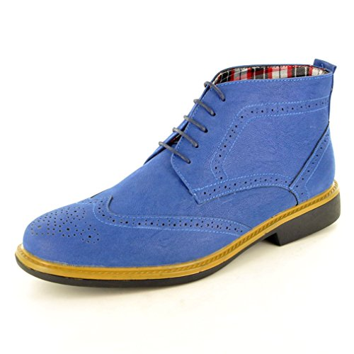 mens-blue-casual-formal-desert-ankle-brogue-chukka-boots-size-8-blue
