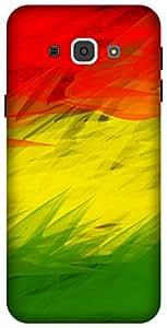 The Racoon Lean rastafarian flag hard plastic printed back case / cover for Samsung Galaxy A8