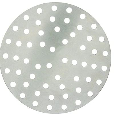 Winco APZP-9P, 9-Inch Aluminum Perforated Pizza Disk with 57 Holes, Pizza Screen