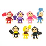 Alldaymall 2GB Cute Mini Cartoon Monkey USB Flash Memory Stick Drive, Red/Blue/Purple/Pink/Brown/Green/ Yellow...