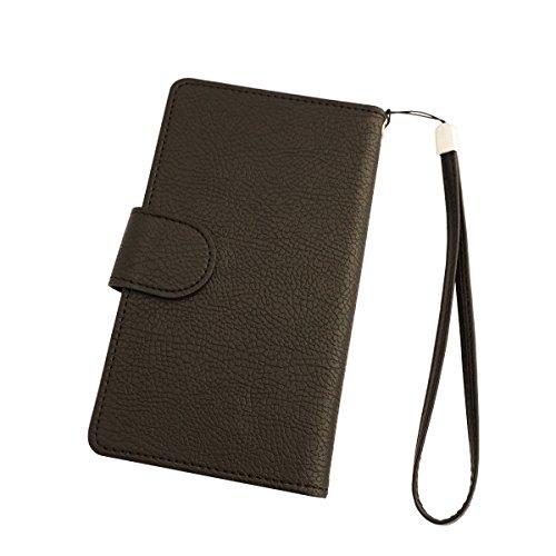 スマホケース iPhone アイフォーン iPhone6s/6 iPhone6 左利き用 手帳型 ケース カバー カードケース ブラック sim free シムフリー