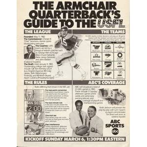 1983 USFL on ABC Promotional Advertisement Page Lynn Swann Keith Jackson