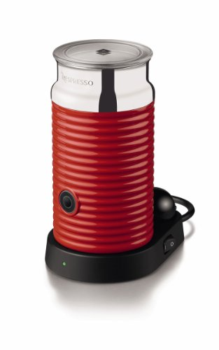 Nespresso 3194 Aeroccino and Milk Frother (Red)