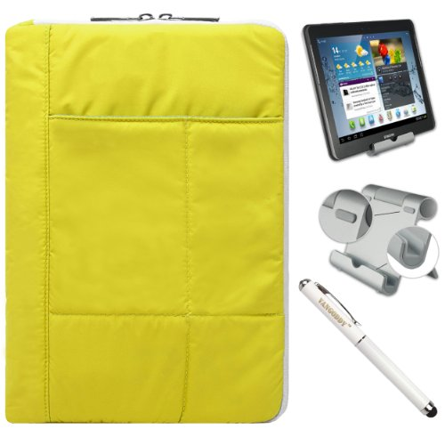 Pillow Edition Protective Lightweight Sleeve For Dell Venue 11 Pro Tablet (11-Inch Touch Screen) + Foldable Stand + Stylus Pen
