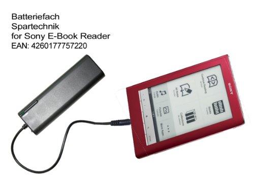Externes Batteriefach für Sony eBook Reader PRS-505 PRS-500 PRS 300 PRS-600 PRS-700 Touch Digital Book. Externes Batterieladegerät für elektronische Buch - Ebook