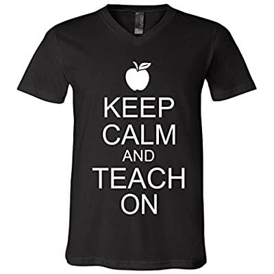 Keep Calm and Teach On V-Neck T-Shirt