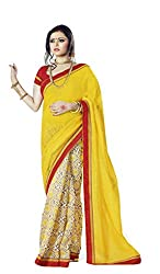 Nistula Fashion Tassar Silk Saree With Blouse Piece (Lavanya25008 -Yellow)