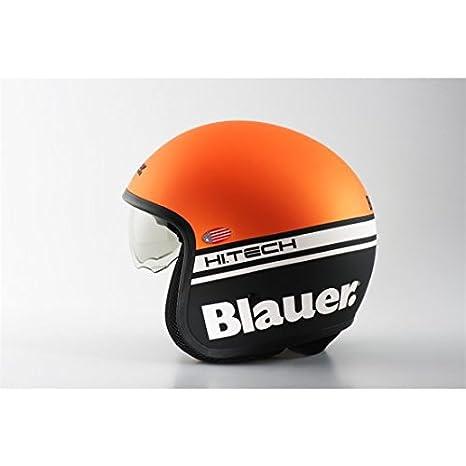 Casque blauer pilot orange/noir mat l - Blauer BLCJ105L