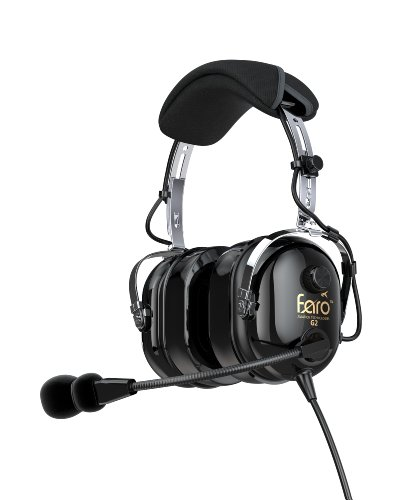 Faro G2 – Premium Pilot Aviation Headset, w/ Mp3 Input BLACK
