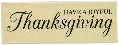 "Hero Arts Have A Joyful Thanksgiving Mounted Rubber Stamp, 2.75"" by 1"" - 1"