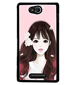Printvisa Girl Dressed Like Cindrella Back Case Cover for Sony Xperia C::Sony Xperia C HSPA+ C2305