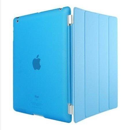 Smart Cover + Cover posteriore per Apple iPad 2 / iPad 3 / iPad 4 generazione Custodia Poliuretano slim più back cover Case più Pennino e Pellicola Omaggio - Azzurro
