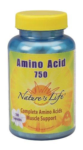 Nature's Life - Amino Acid, 750 mg, 100 capsules