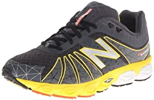 New Balance Men's M890 Running Shoe,Dark Grey/Yellow,11 D US