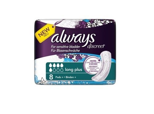 always-discreet-incontinence-long-plus-pads-8pk-case-of-4