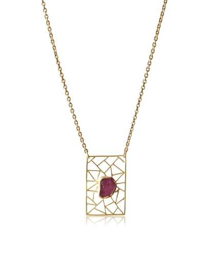 Zariin Ruby Block Necklace