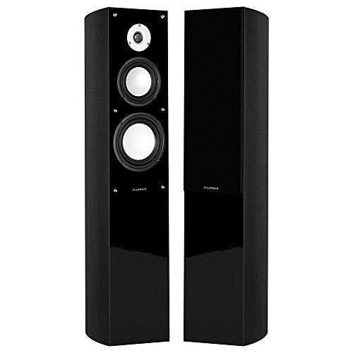 Fluance XL5F-BK High Performance Three-way Floorstanding Tower Speakers for Home Theater & Music Systems