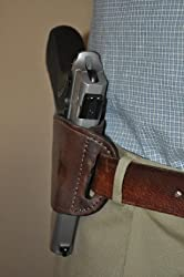 Brown Leather Beltslide Gun Holster for S&W M&P 45, Sigma Series