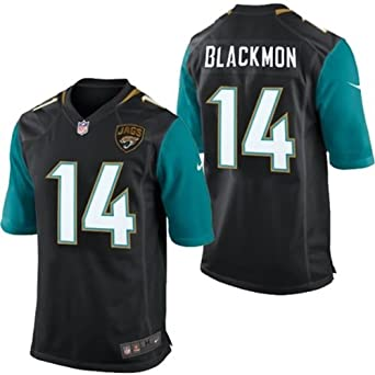 Nike NFL Youth Jacksonville Jaguars JUSTIN BLACKMON # 14 Game Jersey, Black and Teal by Nike