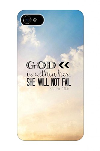 Psalm 46:5 God Is Within Her Whe Will Not Fail Beautiful Sky Christian Bible Verses Quotes Theme Pattern Print Protector Cover Sleeve Cases For Apple Iphone 5 5S 5G front-776884