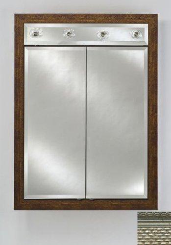 Signature Double Door Medicine Cabinet Lights Finish: Elegance Silver, Size: 24