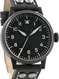Laco Damme Black PVD Swiss Quartz Pilot Watch with Sapphire Crystal 861792