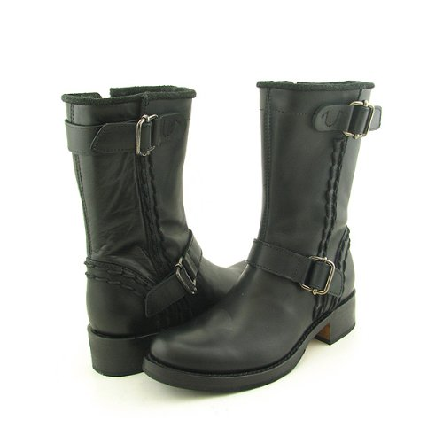 true religion bikey boot motorcycle shoe black sz