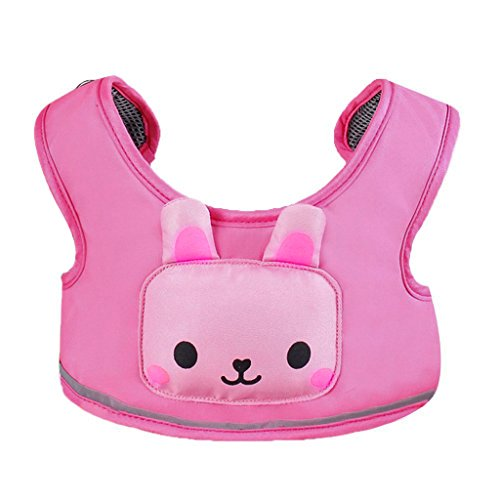 buy Hipiwe 3-in-1 Toddler Cartoon Animal Walking Safety Harness + Portable/Travel High Chair + Shopping Cart Safety Strap, Washable Baby Walking Assistant (Pink) for sale