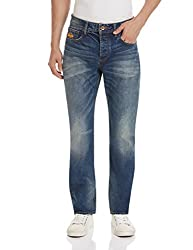 Superdry Men's Straight Fit Jeans (5054265206047_M70MK001F3_30W x 32L_Rugged Used)