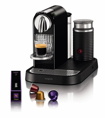 Nespresso CitiZ and Milk by Magimix M190 Coffee Machine, Limousine Black