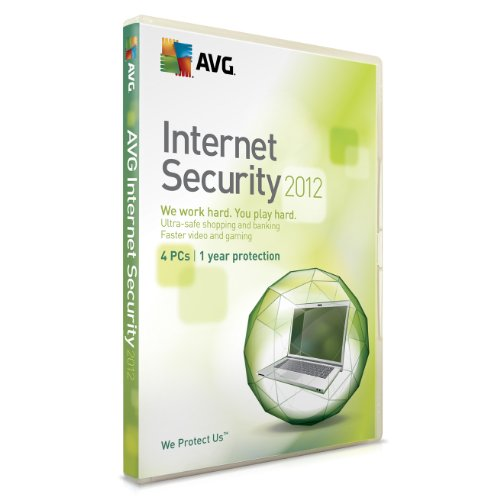 AVG Internet Security 2012, 4 PC, 1 Year License (PC)