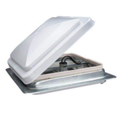 Roof Vent, Powered, 12V, White