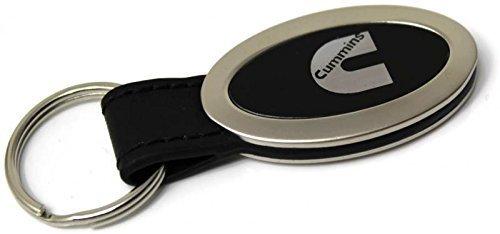 dantegts-dodge-cummins-logo-schwarz-leder-oval-metall-schlusselanhanger
