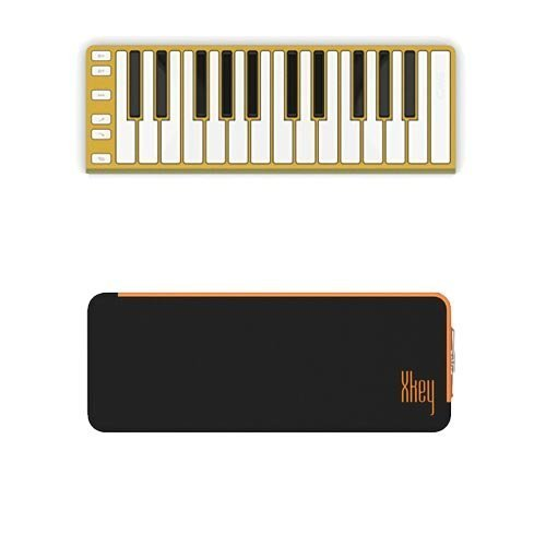 Sale!! CME XKey Mobile Musical Keyboard - Gold + CME Xkey Mini Keyboard Supernova Carrying Case