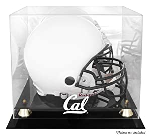 California Bears Golden Classic Logo Helmet Display Case with Mirrored Back by Mounted Memories