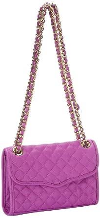 Rebecca Minkoff Mini Affair-Diamond Quilt H324I001 Shoulder Bag,Purple,One Size