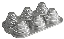 Nordic Ware Platinum Celebration Tiered Cakelet Pan, Silver