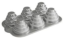 Nordic Ware Platinum Celebration Tiered Cakelet Pan