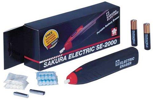 Sakura Se2000 Electric Eraser Kit, Black