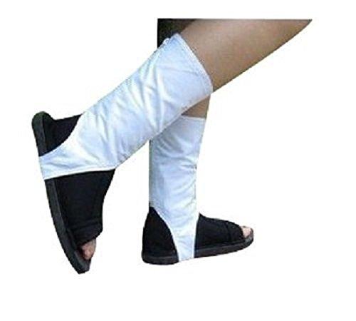 [Naruto Akatsuki Ninja Cosplay Sandals Boots Style Costume (8 (24cm))] (Madara Uchiha Halloween Costume)