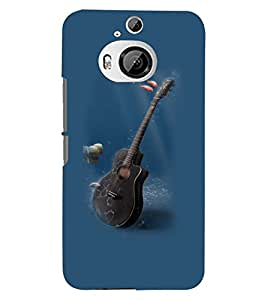 Printvisa Underwater Guitar Back Case Cover for HTC One M9+::HTC One M9 Plus