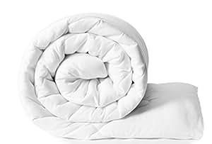 Solimo Microfibre Comforter, Single (White, 200 GSM)