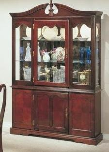 Cheap Hutch & Buffet in Cherry Finish by Poundex (F6052)