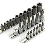 Anytime Tools 27 piece T/E-Torx star MALE and FEMALE Socket Set w/ Tamper Proof Security Hole