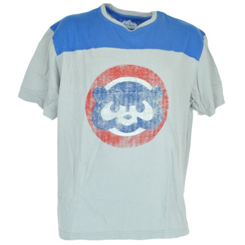 MLB Red Jacket Chicago Cubs Distressed Tshirt Baseball Adult Tee Shirt XLarge at Amazon.com