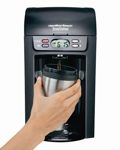 Hamilton Beach 48274 Brew Station 6-Cup Coffeemaker, Black