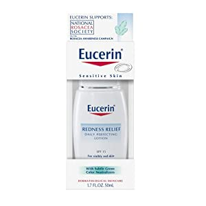 Eucerin Redness Relief Daily Perfecting Lotion SPF 15, 1.7-Ounce Bottles (Pack of 2)